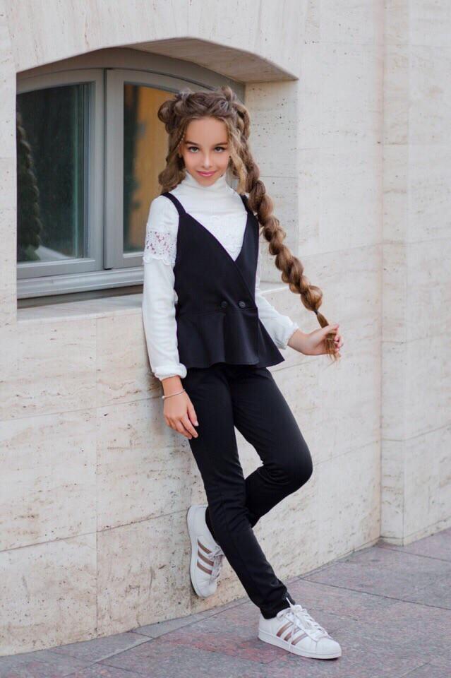 Костюм школьный для девочки:жилетка+брючки