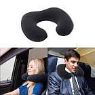 Надувная подушка велюровая для путешествий Intex 68675SH 33*25*8 см, фото 6