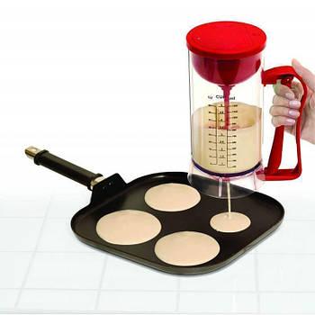 Универсальный ручной миксер для теста с диспенсером Pancake Machine