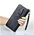 Мужской кошелек портмоне - клатч ALLIGATOR bag ZQ850   Черный, фото 3