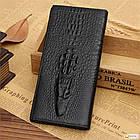 Мужской кошелек портмоне - клатч ALLIGATOR bag ZQ850   Черный, фото 4
