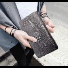 Мужской кошелек портмоне - клатч ALLIGATOR bag ZQ850   Черный, фото 8