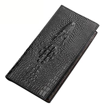 Мужской кошелек портмоне - клатч ALLIGATOR bag ZQ850   Черный