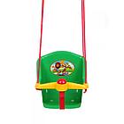 Детская качеля с пищалкой Технок 1790 Солнышко | Зеленая, фото 2