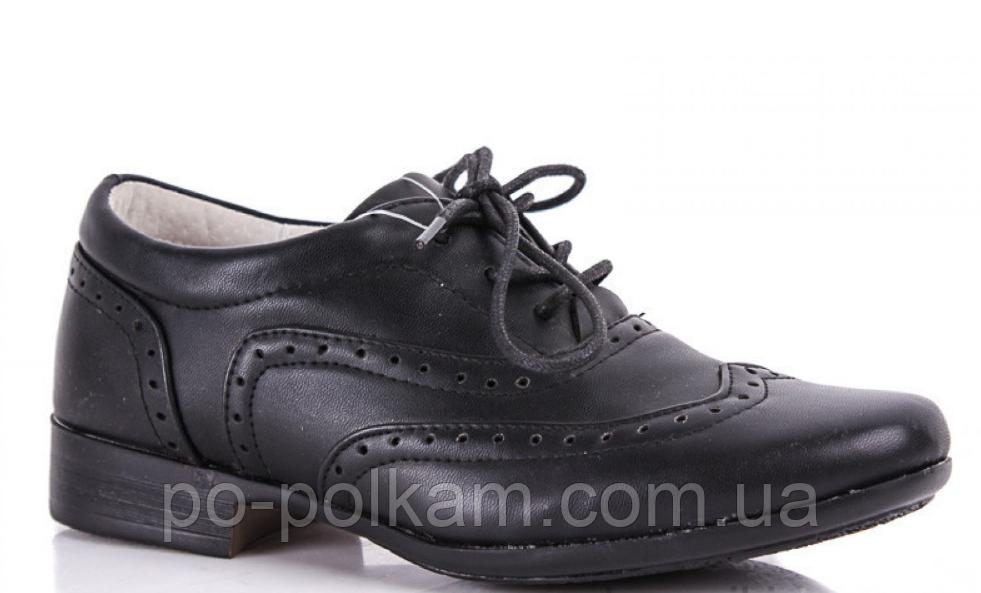 Туфли школьные  черные на мальчика B&G, фото 1
