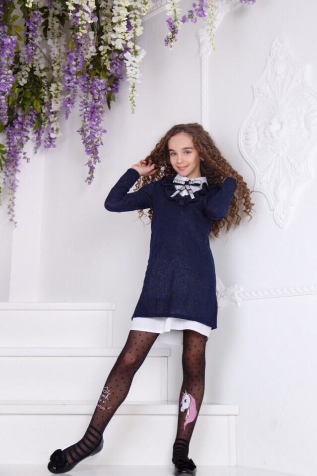 Двойка школьная для девочки:платье +платье рубашка