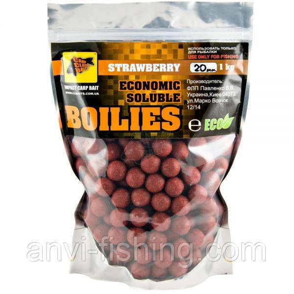CCBaits Пылящие Бойлы Economic Soluble Strawberry