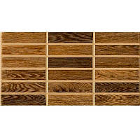 Плитка для стен Inter Сerama Madera 51032 23*35 темно-коричневая