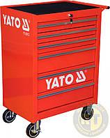 Шкаф-тележка для инструментов с 6 шуфлядами, 995 х 680 х 458 мм Yato YT-0913, фото 1