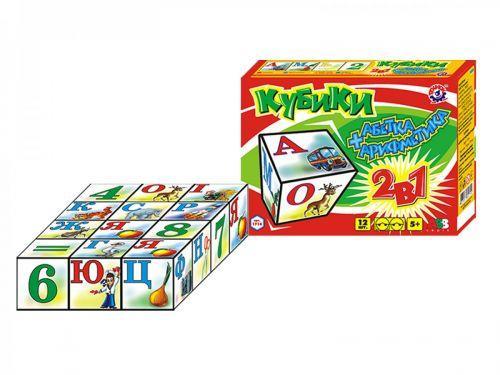 "Кубики ""Арифметика + Азбука ТехноК"", 12 кубиков  sco"