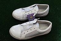 Слипоны , ботинки, туфли белые  на девочку , подростковые Tom.m   Том.М, фото 1