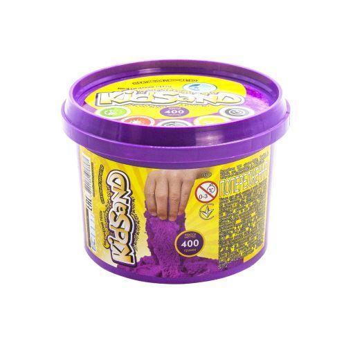 """Кинетический песок """"KidSand"""", фиолетовый, 400г  sco"""