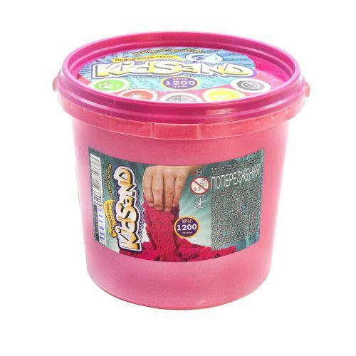 """Кинетический песок """"KidSand"""", розовый, 1200 г  sco"""