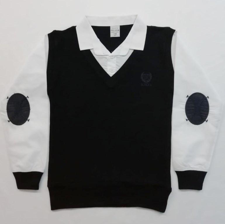 Рубашка-Обманка ,белые рукава