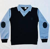 Рубашка-Обманка синие рукава