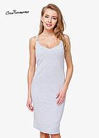 Платье для беременных и кормящих Creative Mama Bodycon GREY, фото 1