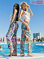 Брюки женские летние принт мозаика