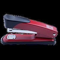 Степлер металлический до 25 листов (скоби №24, 26) красный Buromax