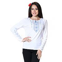 Вышитая футболка Стебнивка синяя с длинным рукавом, фото 1