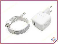 Блок питания для APPLE iPad mini 4 (5.1V 2.1A 11W). В комплекте с вилкой и кабелем LIGHTNING 1M (MD818ZM). ОРИГИНАЛ!
