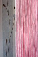 Шторы нити однотонные №5 розовые