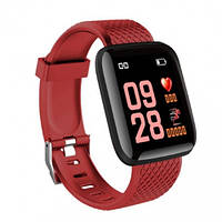 Смарт-часы ID116 Plus (D13) с измерением давления - Красный