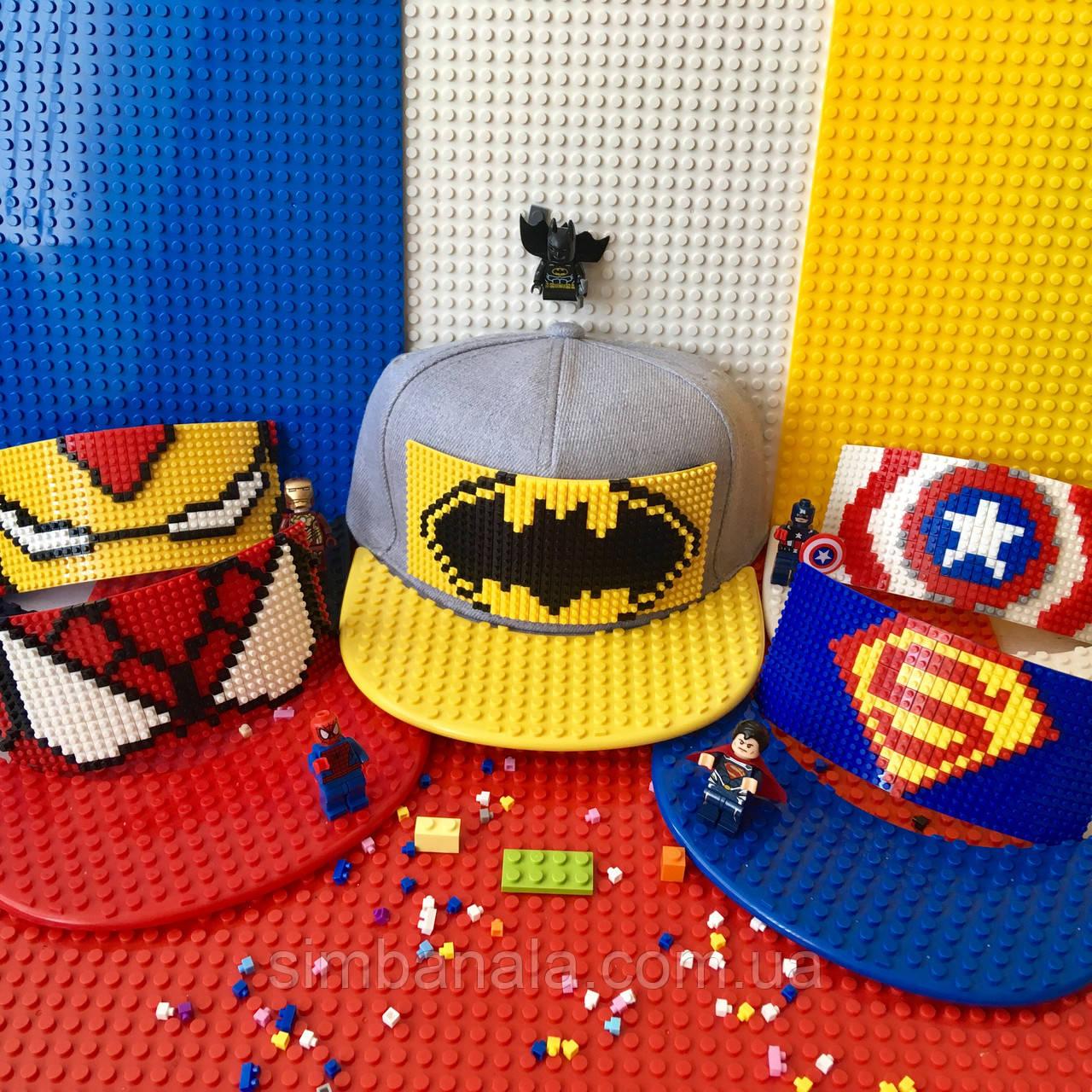 Детская кепка-конструктор для LEGO, к-кт для СуперГероя