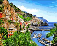 Картины по номерам 40×50 см. Позитано деревня на юге Италии