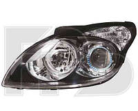 Фара передняя для Hyundai i30 Ford '10-12 левая (DEPO) черный отражатель под электрокорректор