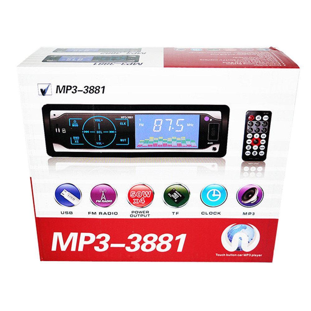 Автомагнитола сенсорная MP3 3881 ISO 1DIN Pro