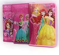 """Папка на змейке A4 №5338 3D """"Winx, Frozen, Princess"""", 23х33см школьная для девочек mix уп12"""