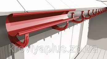 Водосточная сисиема BRYZA 125 Держатель желоба ПВХ красный, фото 2