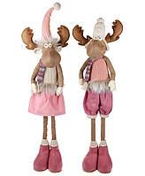Декоративная мягкая игрушка Олень 75 см, цвет - розовый,  2 вида