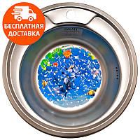 Кухонная мойка стальная Galati Eko Sorin Textura 5487 нержавеющая сталь