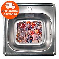 Кухонная мойка стальная Galati Eko Fifika Textura 7124 нержавеющая сталь