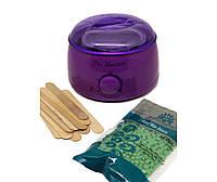Аппарат для разогрева парафина и воска Баночный воскоплав Pro Wax 100 Фиолетовый