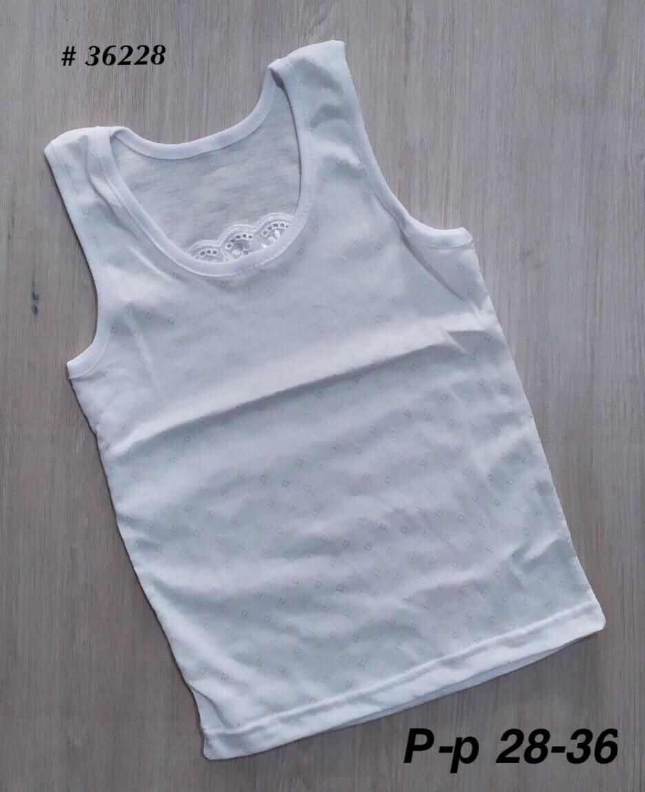 Белая майка с вышивкой ))) для девочки майки