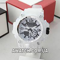 Унисекс кварцевые наручные часы Casio G-Shock M260 / Касио на каучуковом ремешке белого цвета