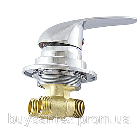 Змішувач регулювання холодної та гарячої вод для гідромасажної ванни й прихованого монтажу (J6040K) вбудовуєть