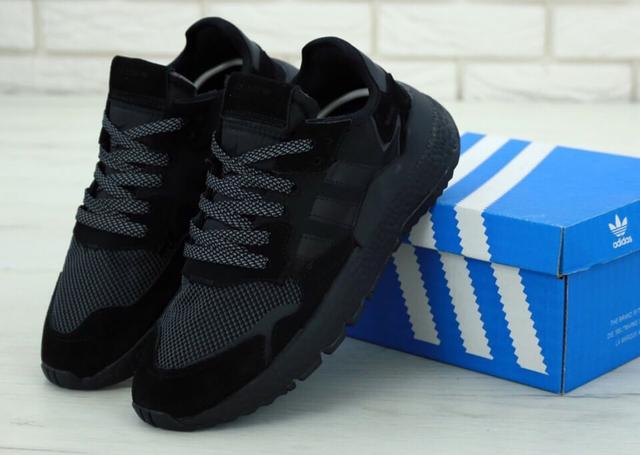 Adidas Nite Jogger Triple Black фото