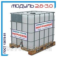 Жидкое стекло натриевое ГОСТ 13078-81: плотность 1,45—1,50, силикатный модуль 2,8—3,0