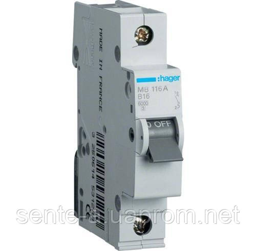 Автоматический выключатель 1 пол. 40А тип В 6КА МВ140А HAGER