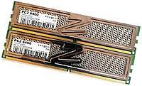 Пара оперативной памяти OCZ Titanium DDR2 4Gb (2Gb+2Gb) 800MHz PC2 6400U CL4 (OCZ2T800C44GK) Б/У, фото 1