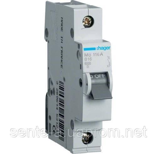 Автоматический выключатель 1 пол. 50А тип В 6КА МВ140А HAGER