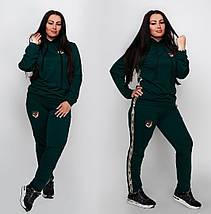 """Женский трикотажный спортивный костюм """"Kim"""" с лампасами и капюшоном (большие размеры), фото 2"""