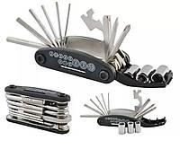 Мультитул 16 предметов в 1,Многофункциональный набор ключей для ремонта велосипеда,шестигранник,ВЕЛО Набор
