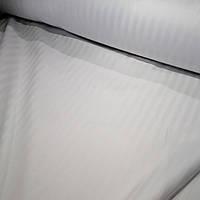 Сатин страйп белый полоска 1 см ш.220 см хлопок