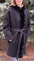 Пальто кашемірове з хутром норки, фото 1