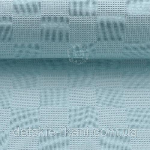 Ткань вафельная Pike голубого цвета (№2388)