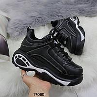 Женские черные кроссовки на массивной подошве в стиле buffalo буффало, фото 1